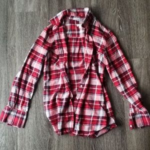 2/$10 Merona Red Flannel Button Up